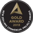 NZ Commercial Projects Awards - Gold Award Certificate